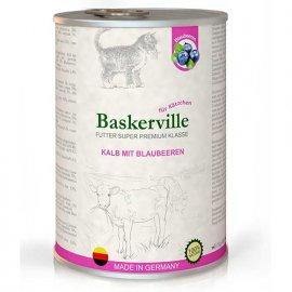 Baskerville Super Premium ТЕЛЯТИНА - ЧЕРНИКА консервы для котят 400 г