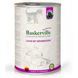 Baskerville Super Premium ЛОСОСЬ - ЕЖЕВИКА консервы для котят 400 г