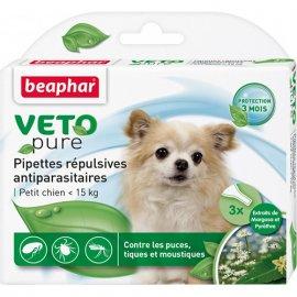 Beaphar - Капли БИО Vetopure от блох и клещей для собак
