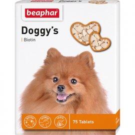 Beaphar Doggy`s Biotine сердечки - лакомство для собак с биотином 75 табл