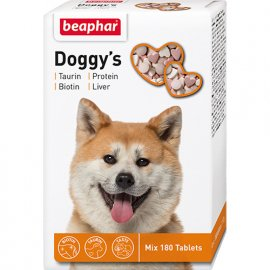 Beaphar Doggys Mix - витаминное лакомство для собак, 180 табл