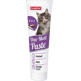 BEAPHAR Duo-Malt Paste Паста для кошек двойного действия для выведения шерсти из кишечника, 100 г