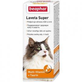 Beaphar Laveta Super жидкие витамины для шерсти для кошек, 50 мл