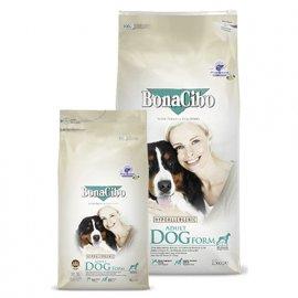 BonaCibo ADULT DOG FORM сухой корм для собак с лишним весом и стареющих собак КУРИЦА И РИС
