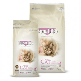 BonaCibo ADULT LIGHT & STERILISED сухой корм для стерилизованных кошек КУРИЦА И РИС