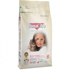 BonaCibo KITTEN сухой корм для котят до 12 месяцев КУРИЦА И РИС