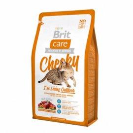 Brit Care CHEEKY Living Outdoor - корм для взрослых активных кошек, гуляющих на улице (оленина/рис)