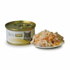 Brit Care Chicken Breast Сheese - Консервированный корм для взрослых кошек КУРИНАЯ ГРУДКА И СЫР 80 г