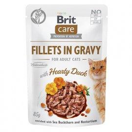 Brit Care DUCK консервы для взрослых кошек УТКА В СОУСЕ