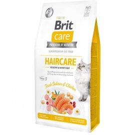 Brit Care GF HAIRCARE HEALTHY SKIN & COAT беззерновой корм для взрослых кошек (курица и лосось)