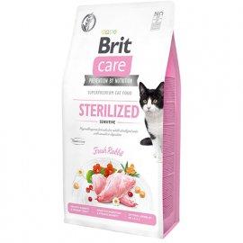 Brit Care GF STERILIZED SENSITIVE беззерновой корм для стерилизованных кошек с чувствительным пищеварением (кролик)