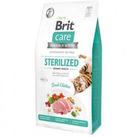 Brit Care GF STERILIZED URINARY HEALTH беззерновой корм для стерилизованных кошек для профилактики мочекаменной болезни (курица)