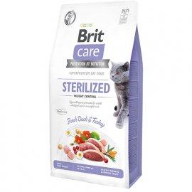 Brit Care GF STERILIZED WEIGHT CONTROL беззерновой корм для стерилизованных кошек с лишним весом (утка и индейка)