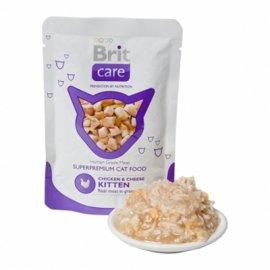 Brit Care Kitten Chicken and Сheese - Консервированный корм для котят КУРИЦА И СЫР