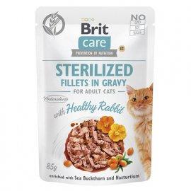 Brit Care RABBIT STERILIZED консервы для стерилизованных кошек КРОЛИК В СОУСЕ