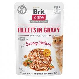 Brit Care SAVORY SALMON консервы для взрослых кошек ПИКАНТНЫЙ ЛОСОСЬ В СОУСЕ