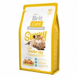 Brit Care SUNNY Beautiful Hair - корм для здоровой кожи и красивой шерсти кошек (лосось/рис)