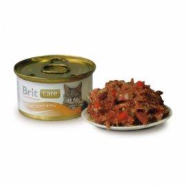Brit Care Tuna, Сarrots and Рeas - Консервированный корм для взрослых кошек ТУНЕЦ, МОРКОВЬ И ГОРОХ
