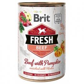 Brit Fresh BEEF & PUMPKIN Консервы для собак с говядиной и тыквой