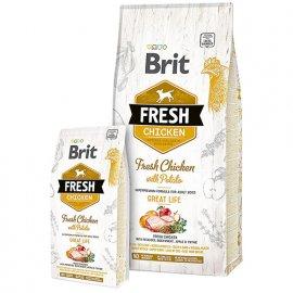 Brit Fresh CHICKEN & POTATO ADULT Корм для взрослых собак с курицей и картофелем