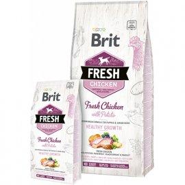 Brit Fresh CHICKEN & POTATO PUPPY Корм для щенков с курицей и картофелем