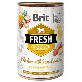 Brit Fresh CHICKEN & SWEET POTATO Консервы для собак с курицей и бататом
