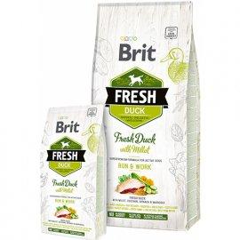 Brit Fresh DUCK & MILLET ACTIVE Корм для активных взрослых собак с уткой и пшеном