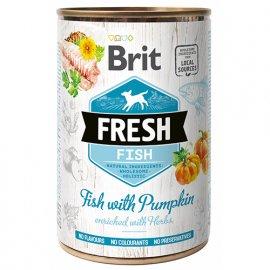 Brit Fresh FISH & PUMPKIN Консервы для собак с рыбой и тыквой