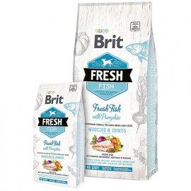 Brit Fresh FISH & PUMPKIN LARGE ADULT Корм для взрослых собак крупных пород с рыбой и тыквой