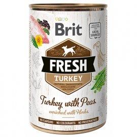 Brit Fresh TURKEY & PEA Консервы для собак с индейкой и горохом