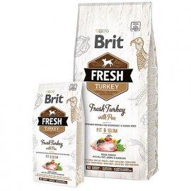 Brit Fresh TURKEY & PEA LIGHT Корм диетический для взрослых собак с индейкой и горохом