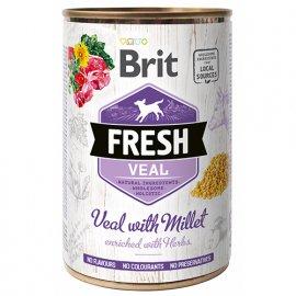 Brit Fresh VEAL & MILLET Консервы для собак с телятиной и пшеном