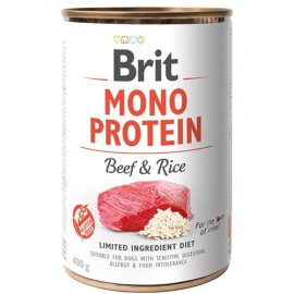 Brit MONO PROTEIN BEEF & RICE (ГОВЯДИНА & РИС) консервы для собак