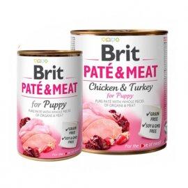 Brit PATE & MEAT FOR PUPPY (КУРИЦА И ИНДЕЙКА В ПАШТЕТЕ) консервы для щенков