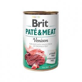 Brit PATE & MEAT VENISON (ОЛЕНИНА В ПАШТЕТЕ) консервы для собак 400 г