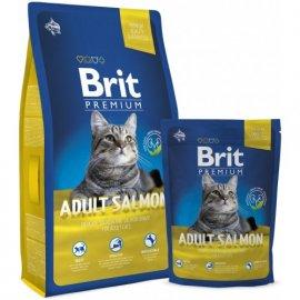 BRIT Premium Cat Adult Salmon - Корм для взрослых кошек ЛОСОСЬ В СОУСЕ