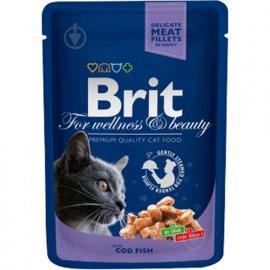 Brit Premium Cat Cod Fish - Влажный корм для кошек (треска)