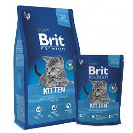BRIT Premium Cat Kitten - Корм для котят КУРИЦА В СОУСЕ ИЗ ЛОСОСЯ