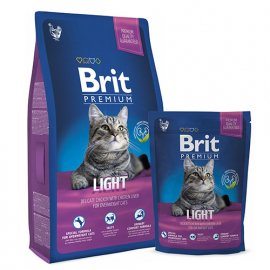 BRIT Premium Cat Light - Корм для кошек с избыточным весом КУРИЦА С СОУСОМ ИЗ КУРИНОЙ ПЕЧЕНИ
