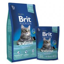 BRIT Premium Cat Sensitive - Корм для кошек с чувствительным пищеварением ЯГНЕНОК И РИС