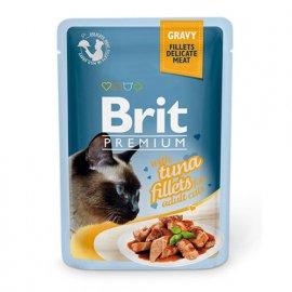 Brit Premium TUNA FILLETS GRAVY (ФИЛЕ ТУНЦА кусочки В СОУСЕ) консервы для кошек