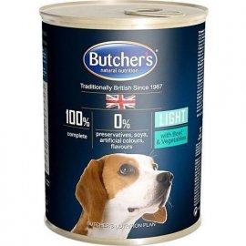 Butcher`s (Бутчерс) BEEF LIGHT (ГОВЯДИНА И ОВОЩИ ЛАЙТ) консерва для собак, склонных к полноте, 400 г