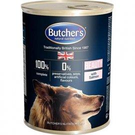 Butcher`s (Бутчерс) PLUS SALMON (ЛОСОСЬ КУСОЧКИ) консервы для собак, 400 г
