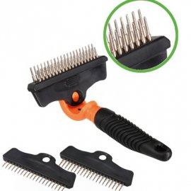 Camon (Камон) Грабли для шерсти собак и кошек 3в1 - инструменты для груминга (СКИДКА 15% - РАСПРОДАЖА)