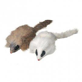 CAMON Игрушка для кошек мышка длинношерстная меховая натуральная