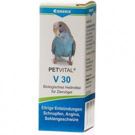 Canina (Канина) Petvital V 30 - Кормовая добавка для птиц при простудах, язвах, нагноениях, 10 г