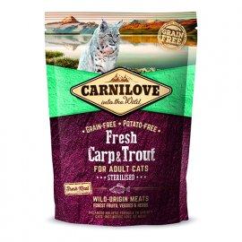 Carnilove FRESH CARP & TROUT STERILISED беззерновой корм для стерилизованных кошек и котов КАРП и ФОРЕЛЬ
