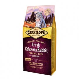 Carnilove FRESH CHICKEN & RABBIT беззерновой корм для кошек КУРИЦА и КРОЛИК