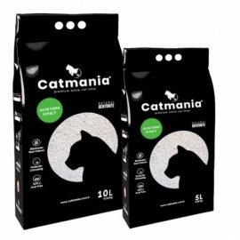 Catmania АЛОЕ ВЕРА комкующийся наполнитель для кошачьих туалетов, зеленые гранулы
