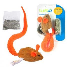 Coastal (Костал) TURBO TAIL MOUSE CATNIP (ТЕЙЛ МЫШКА) игрушка для котов, оранжевый хвост, мята
